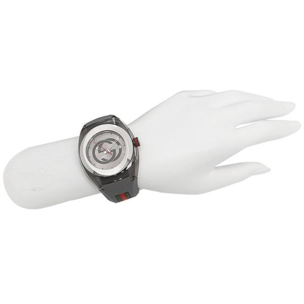 【20:00〜23:59までP10倍】 グッチ 時計 メンズ/レディース GUCCI YA137109 グレー シルバー|axes|04