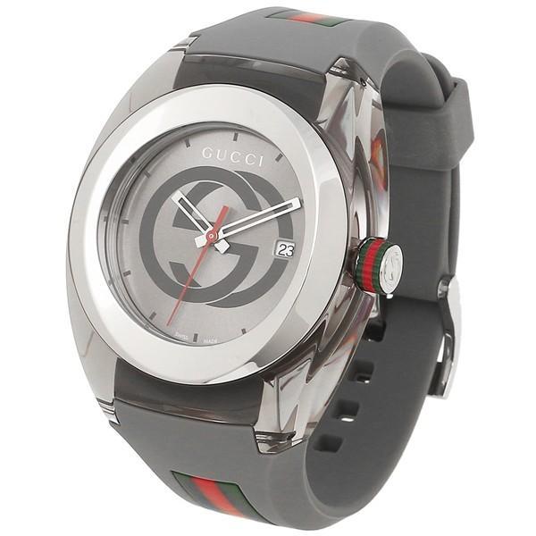 グッチ 時計 メンズ/レディース GUCCI YA137109 グレー シルバー|axes|05