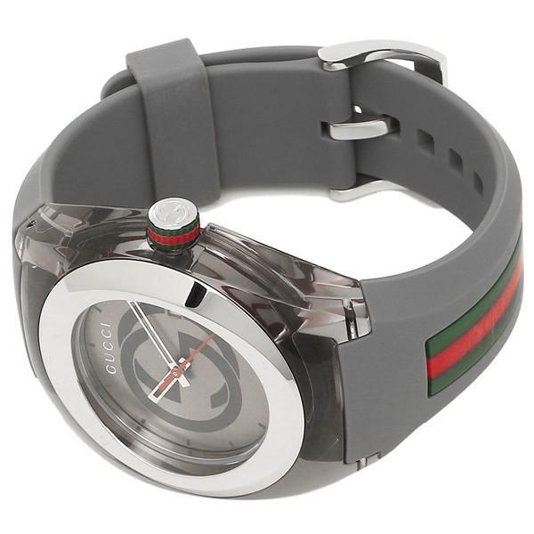 グッチ 時計 メンズ/レディース GUCCI YA137109 グレー シルバー|axes|06