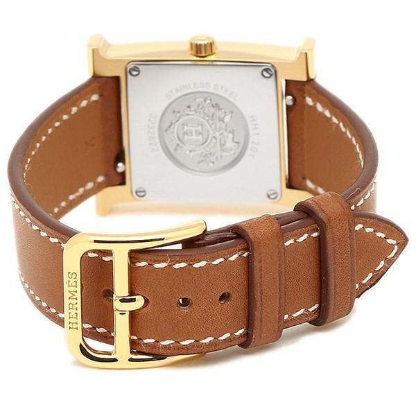 エルメス 腕時計 HERMES HH1.201.131/VBA W036734WW00 ブラウン レディース ホワイト イエローゴールド