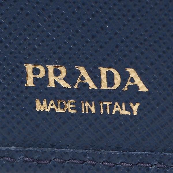 0475f91d190f プラダ レディース ネイビー PRADA 1MH176 QWA F0016 折財布
