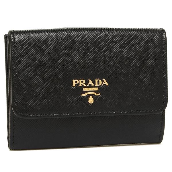 5002f0a6b978 プラダ 二つ折り財布 PRADA 1MH523 QWA F0002 ブラック|axes ...