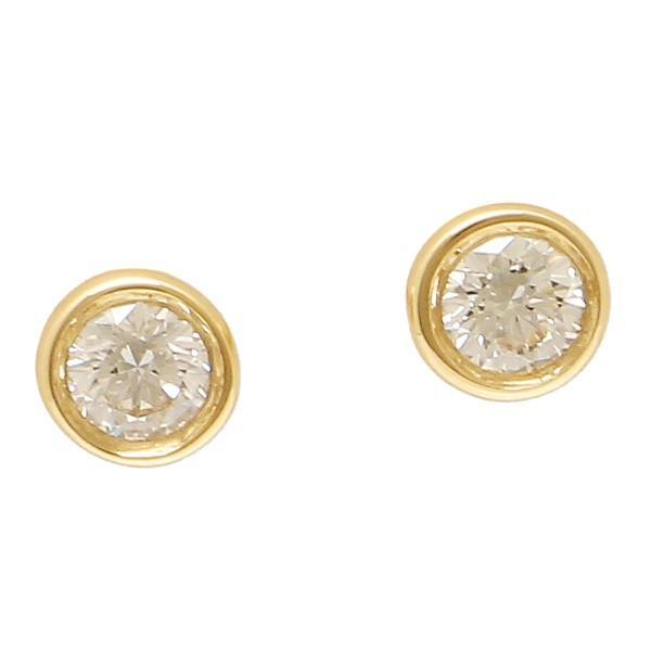 new product dc468 379cf ティファニー ピアス アクセサリー TIFFANY&Co. 12818653 18K ダイヤモンド バイザヤード 0.10ct 18YG ...