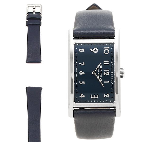 new product b7b75 03680 「P10%還元 9/16 20~24時マデ」 ティファニー 腕時計 TIFFANY&Co. 36668644 ブラック シルバー ブルー