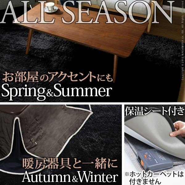 漆黒のホットカーペットカバー ジェッタ(モリス) 1畳用 (100x190cm) 洗える 一人用 ラグ|axisnet|03