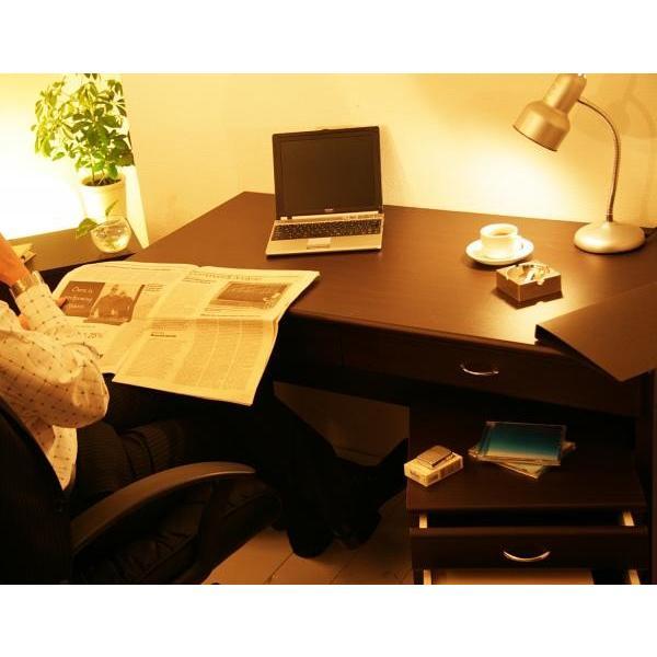 限定 特価 システムデスク 2点セット デスクW90 + チェスト ブラウン デスク パソコンデスク パソコン机 PCデスク PC机 ワークデスク 学習机 勉強机 事務机|axisnet|02
