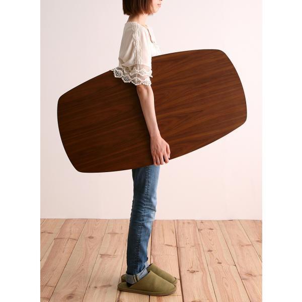 限定 特価 センターテーブル 木製 リビングテーブル 折脚テーブル ウォールナット北欧風 レトロデザイン 折り脚 折りたたみ 天然木 木製テーブル 木脚|axisnet|06