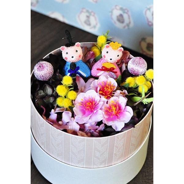 ひな祭り花ギフト「Enfant」アーティフィシャルのお雛さまアレンジ|ayanasu-hanakobo|03