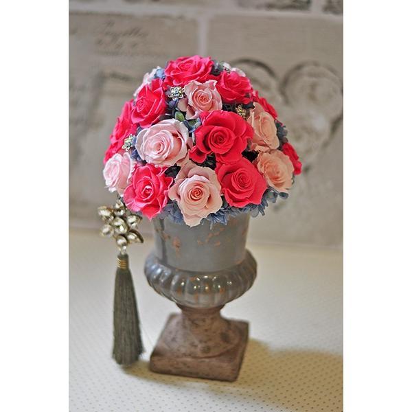 ピンクローズを極めた美しいアレンジメント「La vie en rose」プリザーブドフラワーアレンジメント|ayanasu-hanakobo|02