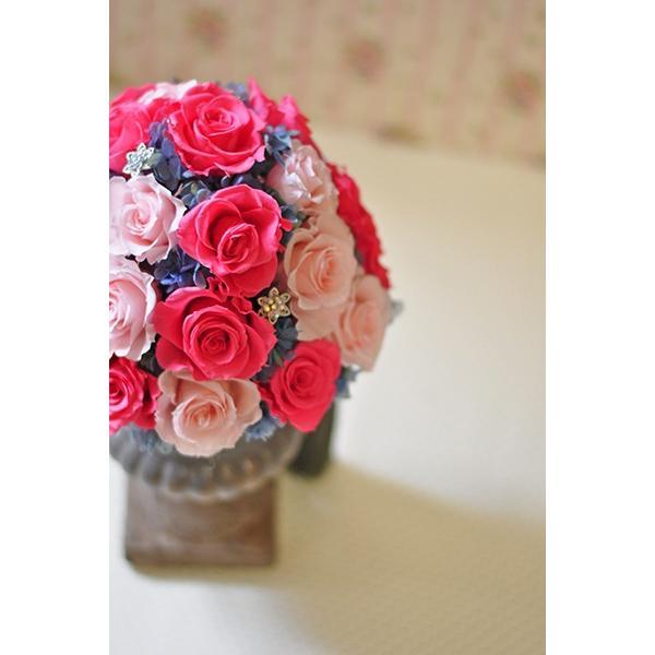ピンクローズを極めた美しいアレンジメント「La vie en rose」プリザーブドフラワーアレンジメント|ayanasu-hanakobo|03