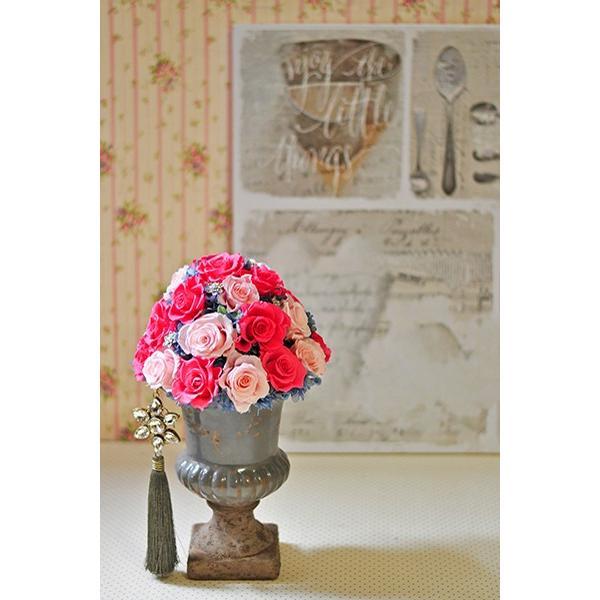 ピンクローズを極めた美しいアレンジメント「La vie en rose」プリザーブドフラワーアレンジメント|ayanasu-hanakobo|04