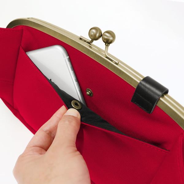 くし型がま口ボディバッグ Sarei コーデュラ(R)Eco Fabric 在庫商品|ayano-koji|06