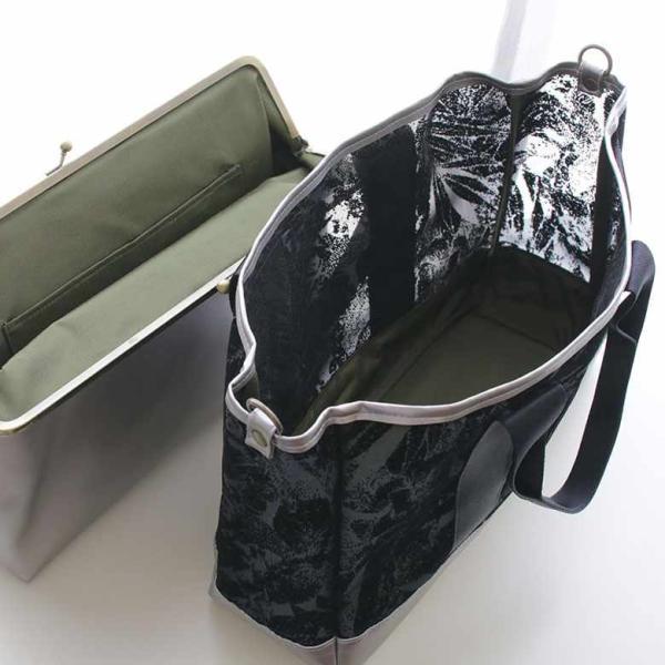 がま口ポーチ付き手提げトートバッグ ボタニカルチュール 在庫商品|ayano-koji|10