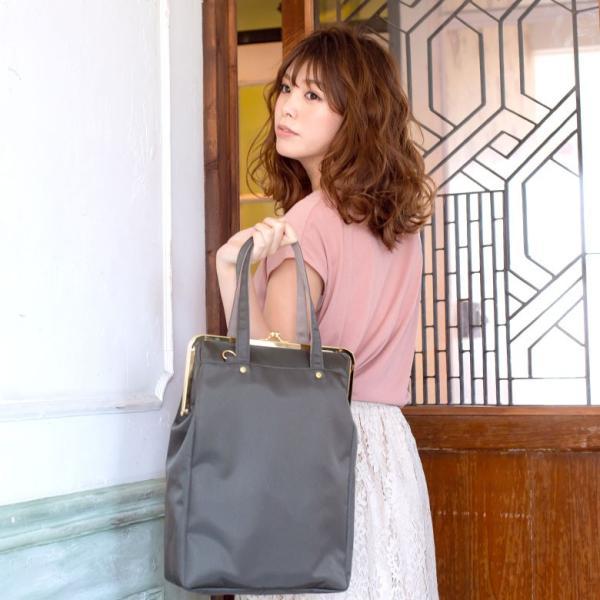 がま口手提げトートバッグ glossy | がま口バッグ 鞄 レディース トートバッグ 普段使い 京都 日本製 トート がまぐちバッグ 誕生日 プレゼント ギフト 在庫商品