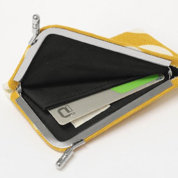 カードケース がま口  在庫商品 仕切り付きがま口カードケース 帆布・唐草 水玉 | かわいい 名刺入れ ポイントカード入れ 薄型 手作り|ayano-koji|05
