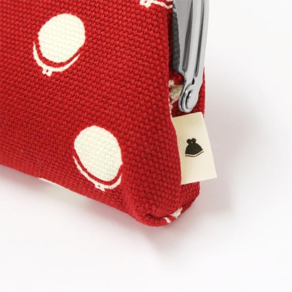 山型がま口メガネケース 帆布・がまドット柄 大判  在庫商品|ayano-koji|05
