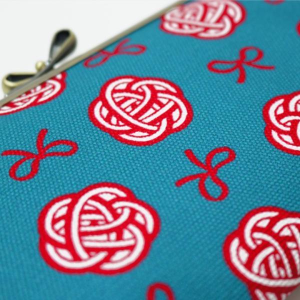 がま口 6寸がま口平ポーチ 帆布・水引柄 | 京都 日本製 あやの小路 がまぐち プレゼント 縁起 在庫商品|ayano-koji|05