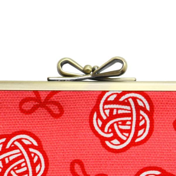 がま口 6寸がま口平ポーチ 帆布・水引柄 | 京都 日本製 あやの小路 がまぐち プレゼント 縁起 在庫商品|ayano-koji|06
