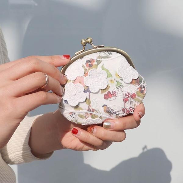 3.3寸がま口財布 フルールレース 在庫商品|ayano-koji|04
