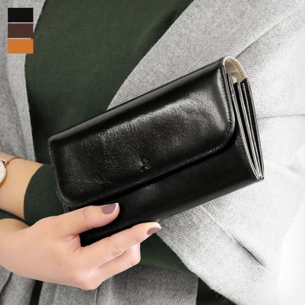 ギャルソン型内がま口長財布 X_LEATHER WALLET(N) 在庫商品|ayano-koji