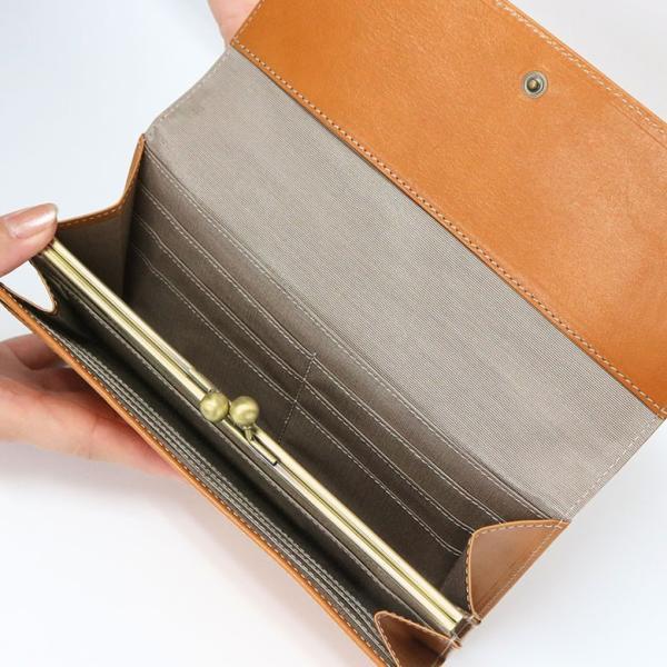 ギャルソン型内がま口長財布 X_LEATHER WALLET(N) 在庫商品|ayano-koji|04