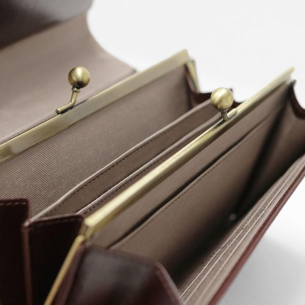 ギャルソン型内がま口長財布 X_LEATHER WALLET(N) 在庫商品|ayano-koji|06