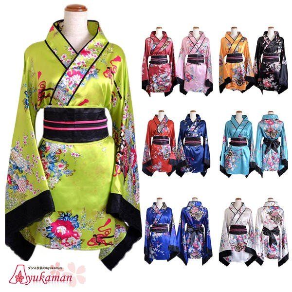 241693ae27389 送料無料 あす楽 よさこい 衣装 和柄 ドレス キャバ キャバドレス和柄 着物ドレス