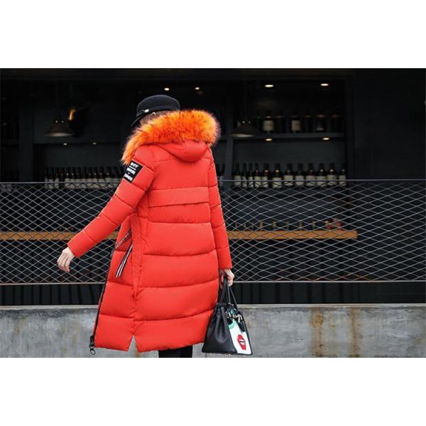 中綿ダウンコート レディース 40代 ロング丈 軽い 2019 秋冬 アウター 中綿コート 中綿ジャケット ダウン風コート フード付き 防寒 暖かい 大きいサイズ スリム|ayusutoa|20
