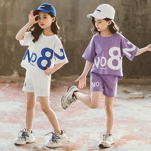 ジャージキッズ女子上下半袖春夏子供服セットアップ上下セット2点セットTシャツショートパンツスポーツウェア運動着可愛いおしゃれ新品