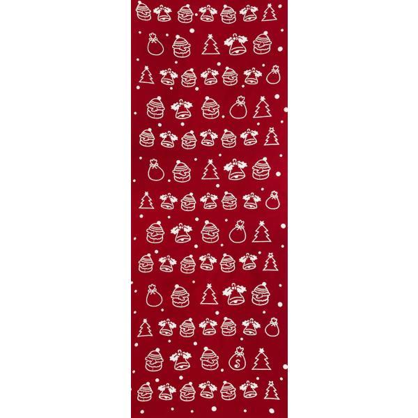 絵てぬぐい 絵画 クリスマス・小紋柄/手ぬぐい 手拭い タオル インテリア 伝統工芸 外国人 海外 ギフト プレゼント アート 和雑貨|ayuwara