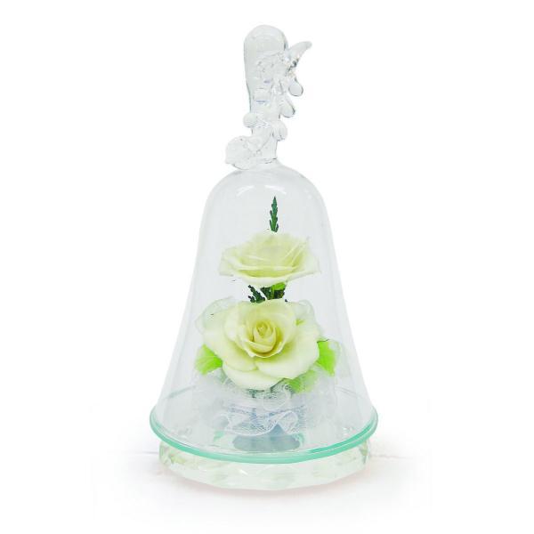 ボトルフラワー/ハンドベル葡萄2輪挿し/ホワイト/ドライフラワー 花 天然色 おしゃれ 枯れない 飾り 華やか 高級 誕生日 祝い ギフト 母 祖母|ayuwara