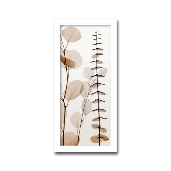 レントゲンアート 絵画 ユーカリ1 絵画 壁掛け 壁飾り インテリア 油絵 花 アートパネル ポスター 絵 額入り リビング 玄関