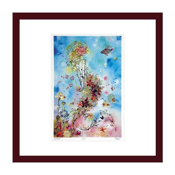 アートフレーム ゆうパケット Atelier Flower Horizon  ジグレー版画  Sea|ayuwara
