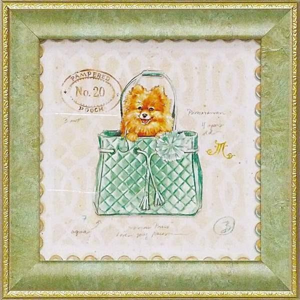 ミニゲル アートフレーム ゆうパケット チャド バレット 「ポメラニアン パピー パース」|ayuwara