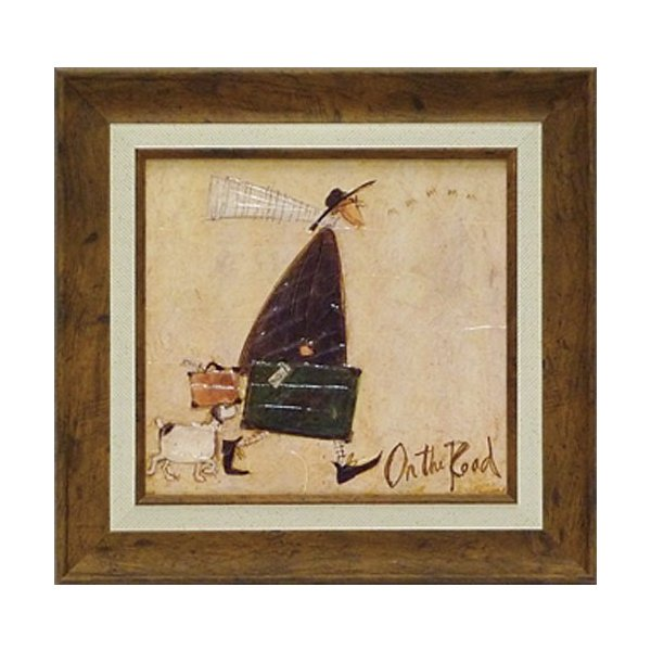 絵画/サム トフト 道の上で/絵画 壁掛け 壁飾り インテリア 油絵 花 アートパネル ポスター 絵 額入り リビング 玄関 ayuwara