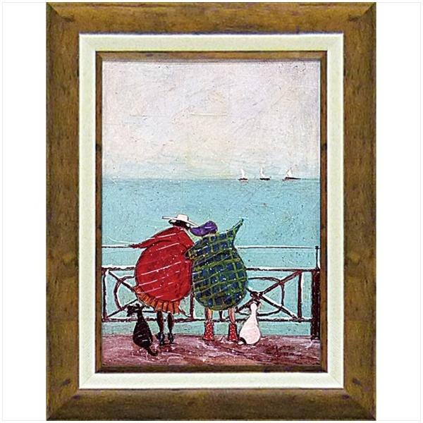 絵画 サム トフト 舟を眺めるひととき/絵画 壁掛け 壁飾り インテリア 油絵 花 アートパネル ポスター 絵 額入り リビング 玄関|ayuwara