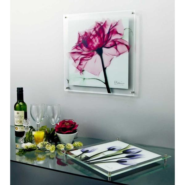 レントゲンアート X RAY ガラス アート「ティール ローズ(Lサイズ)」/絵画 壁掛け 壁飾り インテリア ayuwara 02