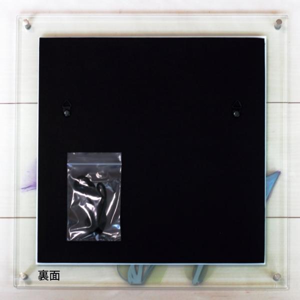 レントゲンアート X RAY ガラス アート「ティール ローズ(Lサイズ)」/絵画 壁掛け 壁飾り インテリア ayuwara 03
