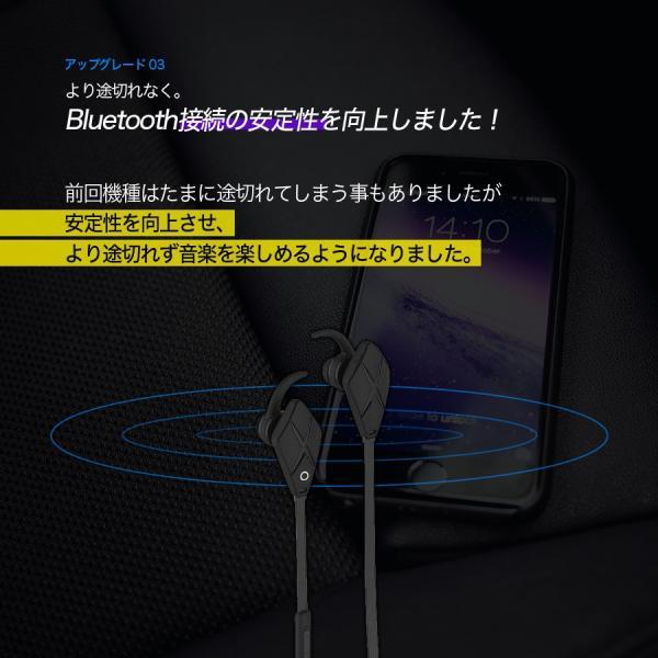 イヤホン iPhone スマホ 重低音 スポーツ ワイヤレス カナル型 高音質 bluetooth ブルートゥース 5時間連続再生 iina-style|az-market|06