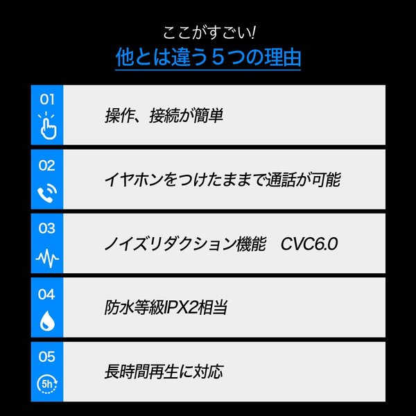 イヤホン iPhone スマホ 重低音 スポーツ ワイヤレスイヤホン カナル型 高音質 bluetooth ブルートゥース ワイヤレス 5時間連続再生 iina-style|az-market|07