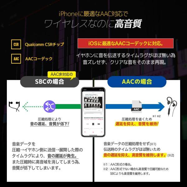 イヤホン iPhone スマホ bluetooth ワイヤレス 重低音 ワイヤレスイヤホン スポーツ 高音質 イヤフォン 防水 ブルートゥース 8時間連続再生 iina-style|az-market|08