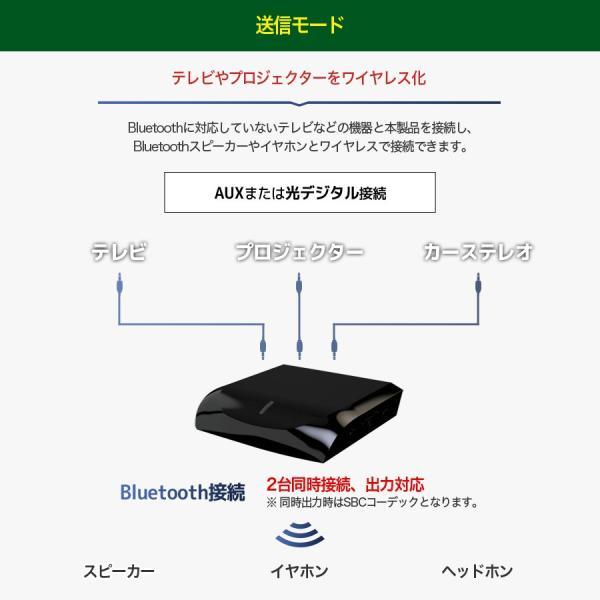 トランスミッター Bluetooth テレビ トランスミッター TV レシーバー ワイヤレス 受信機 送信機 ブルートゥース AAC aptX aptX-LL 2台 高音質 iina-style az-market 04