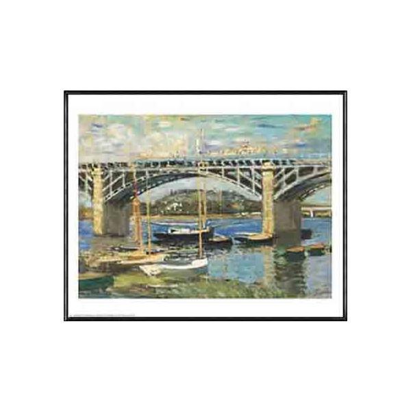 Bridge at Argenteuil(クロード モネ) 額装品 アルミ製ハイグレードフレーム