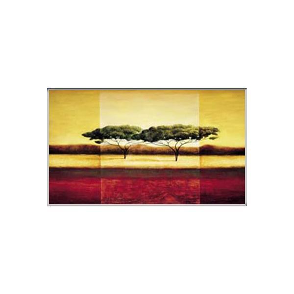 ポスター アート ケニヤ(ラズロ エメリッヒ) 額装品 アルミ製ハイグレードフレーム