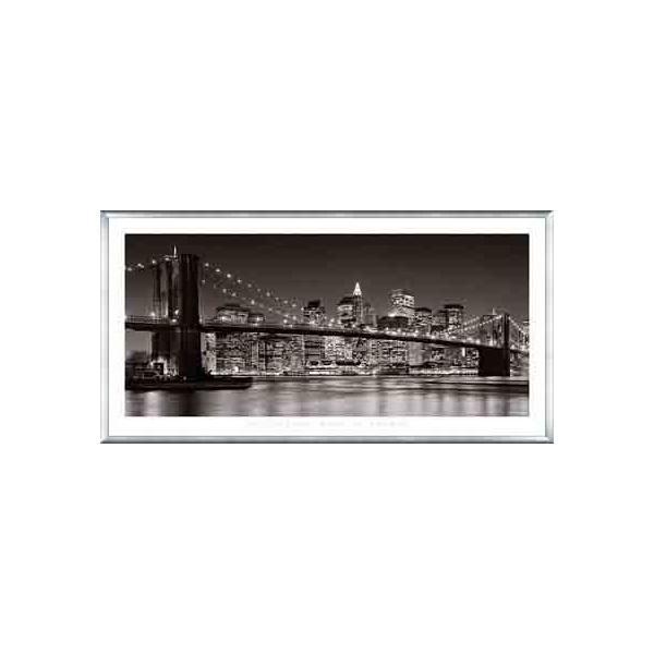 Brooklyn Bridge、 2007(アンリ シルバーマン) 額装品 アルミ製ベーシックフレーム