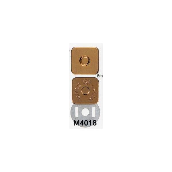 【在庫限り】マグネホック角型/マグネットボタン 留め具 バッグ ポーチ