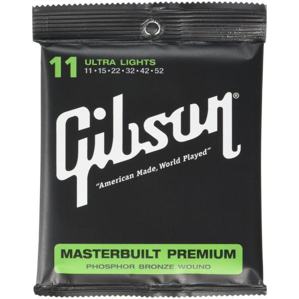 Gibsonギブソンアコースティックギター弦MasterbuiltPremiumウルトラライトゲージ011-052SAG-MB1