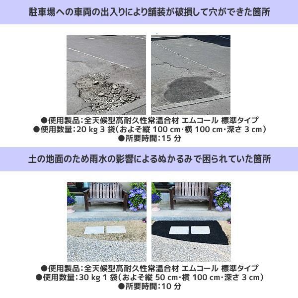 シンレキ工業|アスファルト補修材 エムコール 30kg(袋タイプ/標準:粒大きめ)|aztec|02