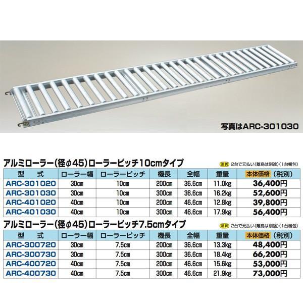 【ハラックス】アルベア アルミ製 ローラーコンベア ARC-400730|aztec|02