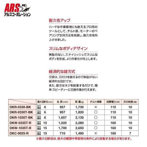 アルス 高枝電動バリカンDKRショートチルト付き DKR-0330T-BK aztec 04
